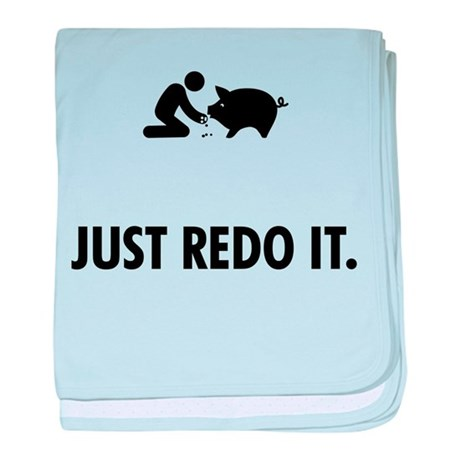 Pig Petting baby blanket