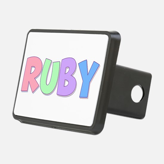 Ruby Rainbow Pastel Hitch Cover