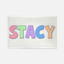 Stacy Rainbow Pastel Rectangle Magnet