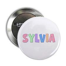 Sylvia Rainbow Pastel Button