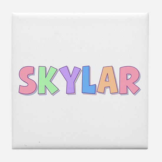 Skylar Rainbow Pastel Tile Coaster