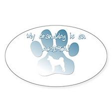 Akita Granddog Oval Decal