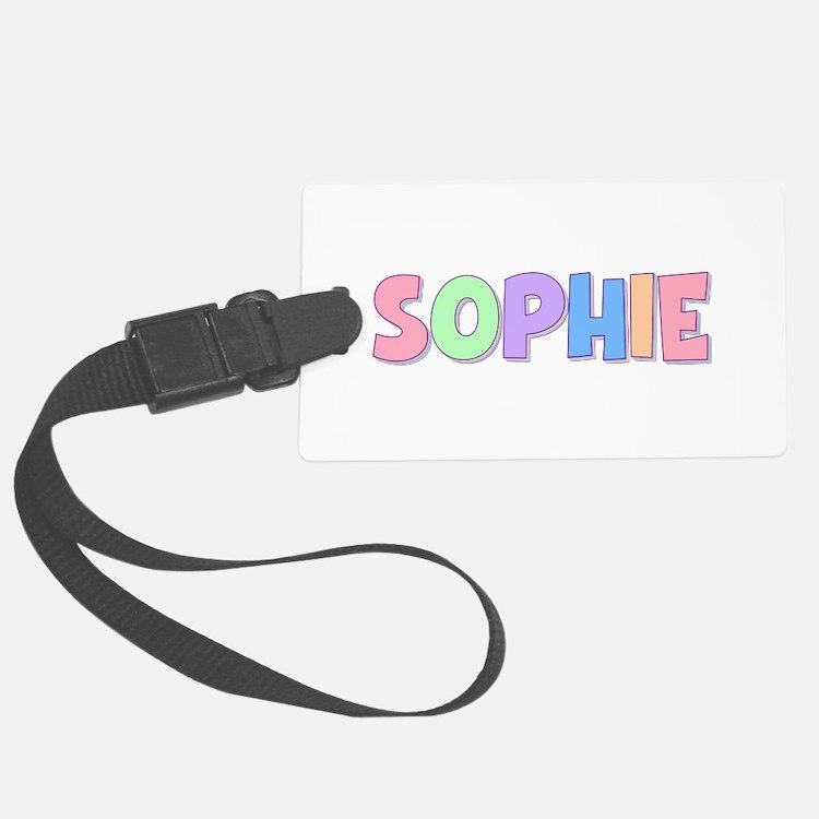 Sophie Rainbow Pastel Luggage Tag