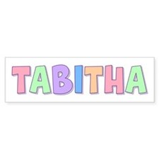 Tabitha Rainbow Pastel Bumper Bumper Sticker