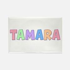Tamara Rainbow Pastel Rectangle Magnet