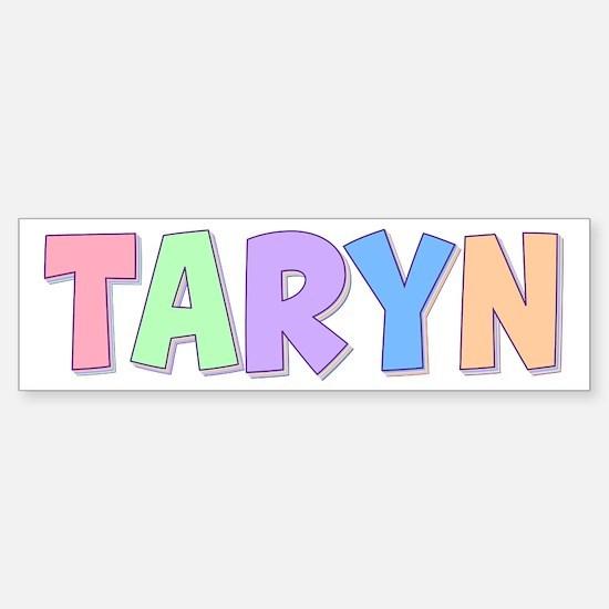Taryn Rainbow Pastel Bumper Car Car Sticker