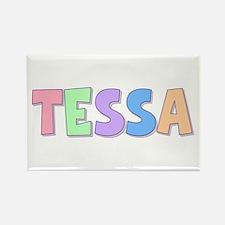 Tessa Rainbow Pastel Rectangle Magnet