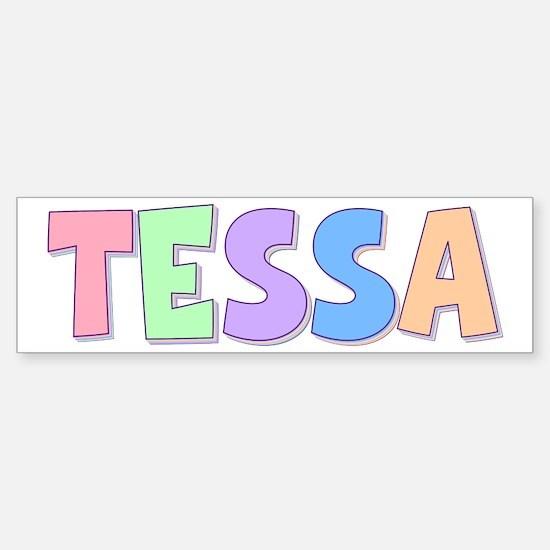Tessa Rainbow Pastel Bumper Car Car Sticker