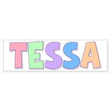 Tessa Rainbow Pastel Bumper Car Sticker