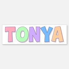 Tonya Rainbow Pastel Bumper Bumper Bumper Sticker