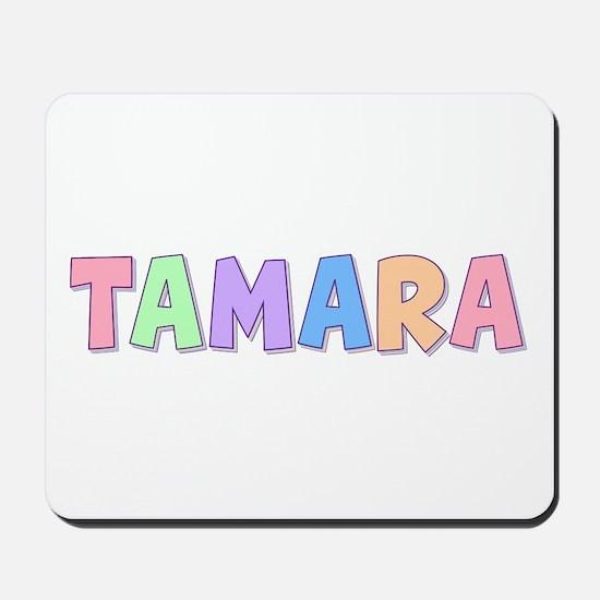 Tamara Rainbow Pastel Mousepad