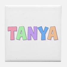 Tanya Rainbow Pastel Tile Coaster