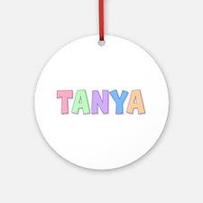 Tanya Rainbow Pastel Round Ornament
