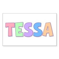 Tessa Rainbow Pastel Rectangle Decal