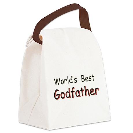 Worlds Best Godfather Canvas Lunch Bag