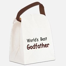 Worlds Best Godfather Canvas Lunch Bag