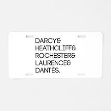 Literary Men Aluminum License Plate