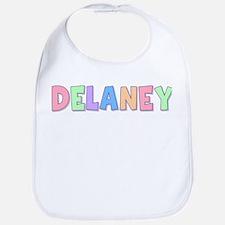 Delaney Rainbow Pastel Bib