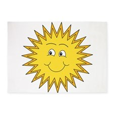 Summer sun with a Smile. 5'x7'Area Rug