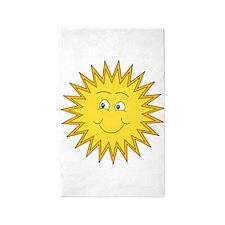 Summer sun with a Smile. 3'x5' Area Rug