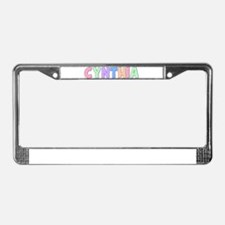 Cynthia Rainbow Pastel License Plate Frame