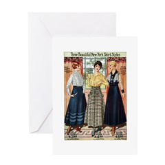 1916 New York Skirts Greeting Card