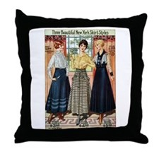 1916 New York Skirts Throw Pillow