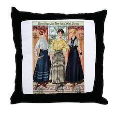 1916 New York Skirts Throw Pillow