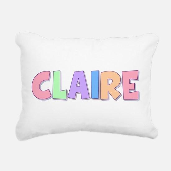 Claire Rainbow Pastel Rectangular Canvas Pillow