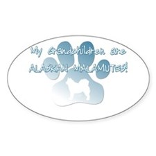 Alaskan Malamute Grandchildren Oval Decal