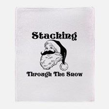 Staching Through The Snow Throw Blanket