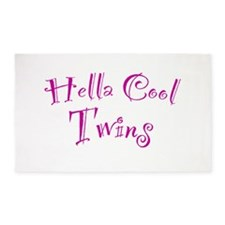 Hella Cool Twins 3'x5' Area Rug