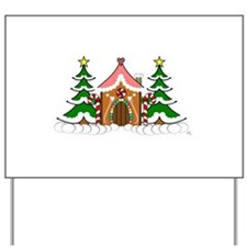 Cute Gingerbread house for Christmas Yard Sign