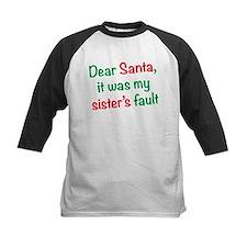 Dear Santa, it was my sister's fault Baseball Jers