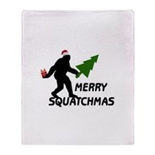 Merry Squatchmas Throw Blanket