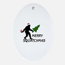 Merry Squatchmas Ornament (Oval)