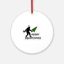 Merry Squatchmas Ornament (Round)