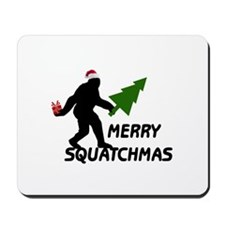 Merry Squatchmas Mousepad