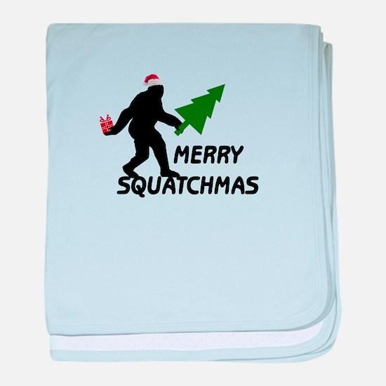 Merry Squatchmas baby blanket