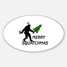 Merry Squatchmas Decal