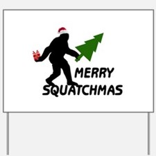 Merry Squatchmas Yard Sign