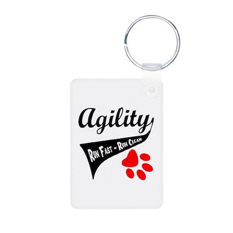 Agility Tail Aluminum Photo Keychain
