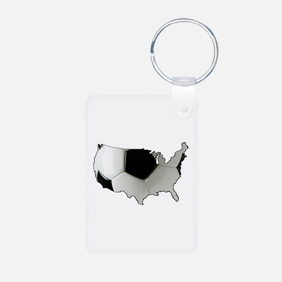 American Soccer Keychains
