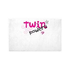 Twin Powers 3'x5' Area Rug