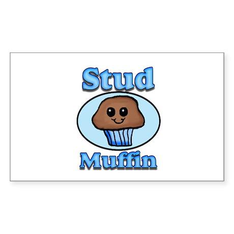 Stud Muffin Sticker (Rectangle)