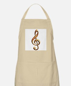 Gold treble clef BBQ Apron