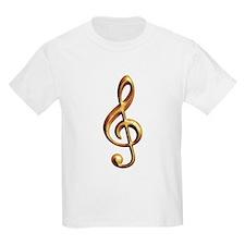 Gold treble clef Kids T-Shirt