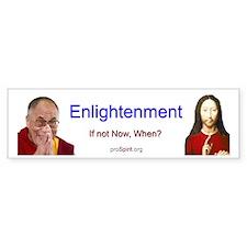 Enlightenment -Jesus-Dalai Lama- Bumper Bumper Sticker