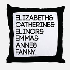 Austen Heroines Throw Pillow