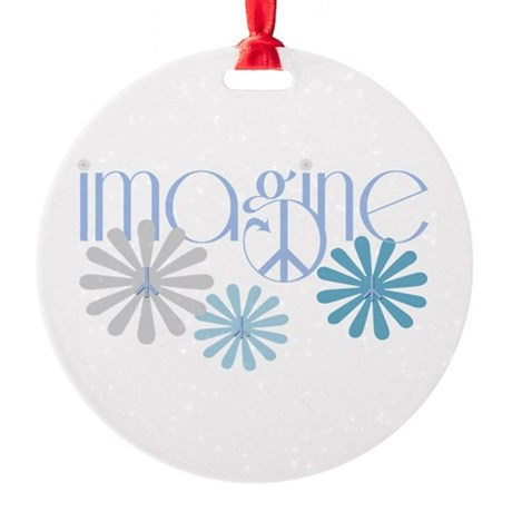 imagine.png Round Ornament